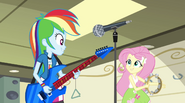 Rainbow and Fluttershy start singing Better Than Ever EG2