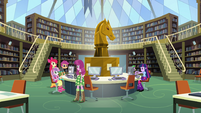 Twilight, Cheerilee, and Crusaders in library EG