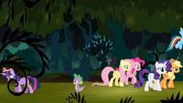 Twilight and Spike walks away S4E02