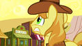 Braeburn anxiously looks at clock S1E21.png