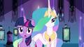 Princess Celestia behind Twilight EG.png
