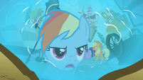 Rainbow Dash in reflection 'I hope I never see you again' S2E01