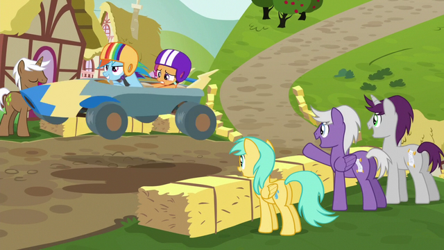 File:Rainbow and Scootaloo race past spectators S6E14.png
