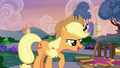 "Applejack ""show's back on, fellers!"" S7E9.png"