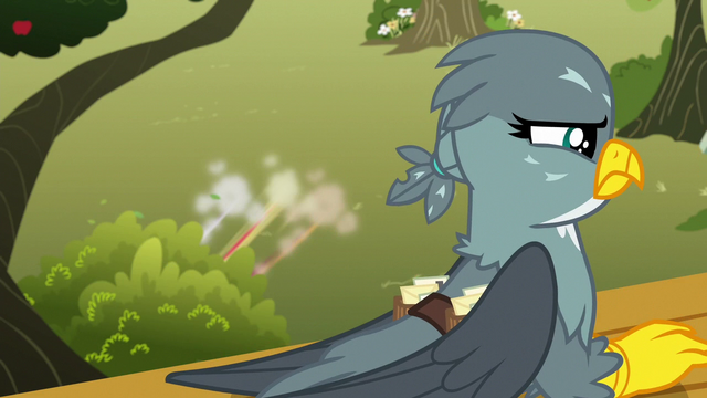 File:Crusaders duck into a bush as Gabby looks for them S6E19.png