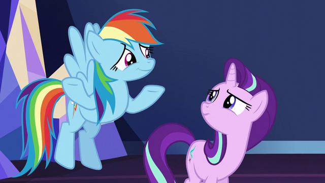 File:Rainbow Dash shrugging to Starlight S6E1.png