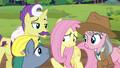 Expert ponies wait for Fluttershy's reaction S7E5.png
