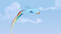 Rainbow flies circularly in the air S3E7
