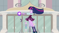 Sci-Twi dropping her device while being lifted in the air EG3