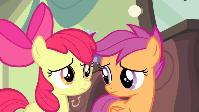 File:Scootaloo looks at Apple Bloom S4E19.png