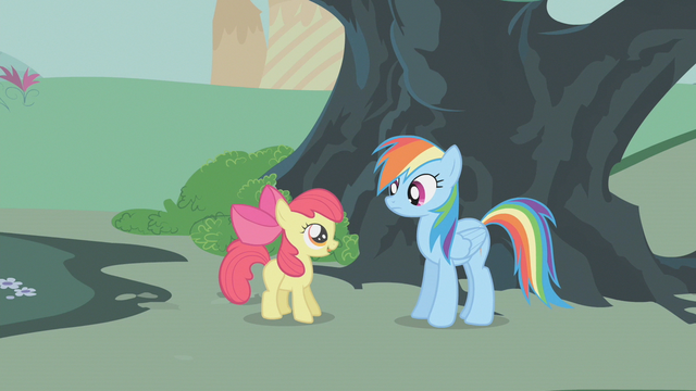 File:Apple Bloom thanking Rainbow Dash S01E12.png