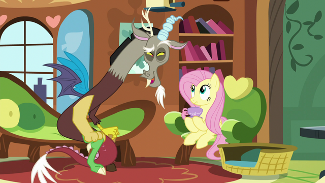 "File:Discord accepts Fluttershy's ""invitation"" S5E7.png"