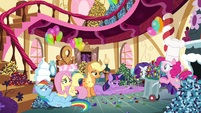 Pinkie with a bin of rock candy S4E18