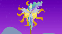 Princess Celestia raising the sun S4E02