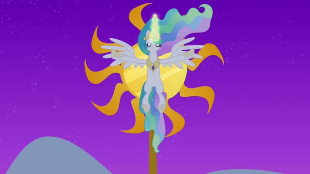 File:Princess Celestia raising the sun S4E02.png