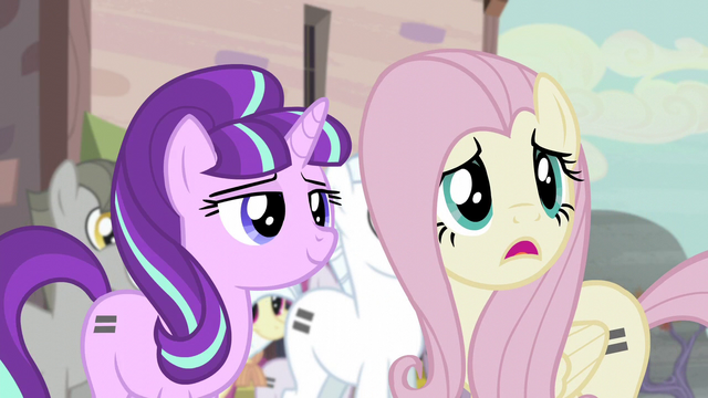 "File:Fluttershy ""joining"" the town S5E02.png"
