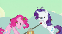 Pinkie Pie and Rarity on a Handcart 2 S2E14