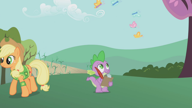 File:Spike looking at butterflies S1E11.png