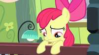 Apple Bloom on her bed S4E17