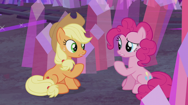 "File:Applejack and Pinkie ""I came here to think"" S5E20.png"
