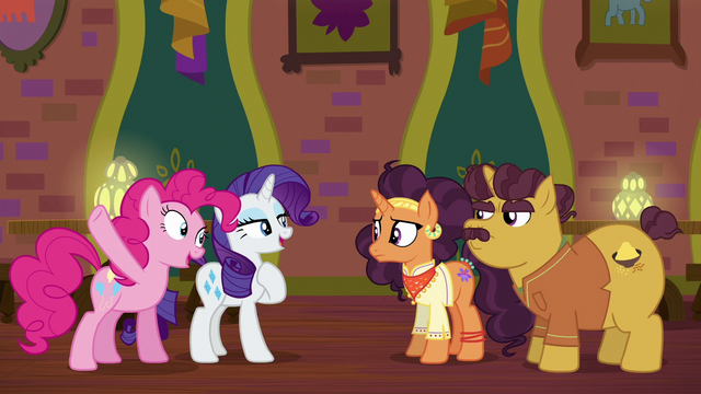 "File:Pinkie and Rarity ""just leave it to us!"" S6E12.png"