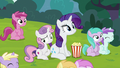 Sweetie Belle sitting bored next to Rarity S7E6.png