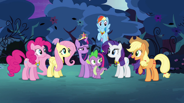 File:The Mane six are together S4E02.png