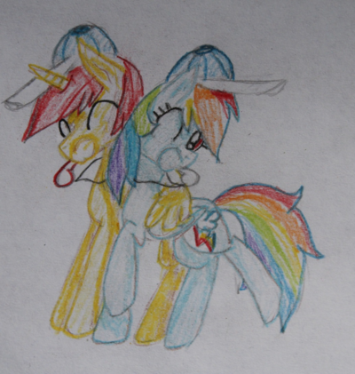 FANMADE Crismon Azure OC with Rainbow Dash
