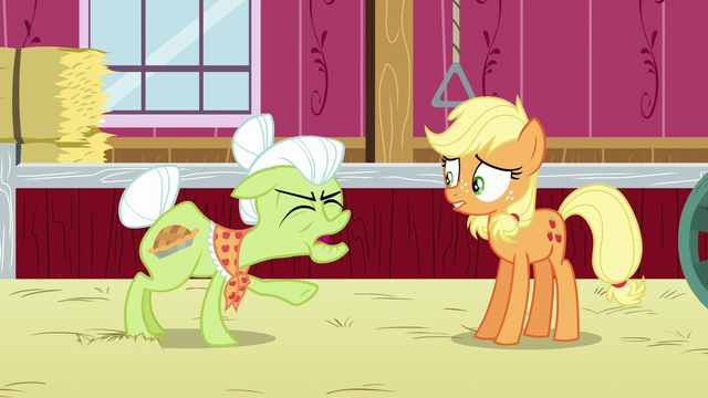 File:Granny Smith shouting frustrated at Applejack S6E23.png