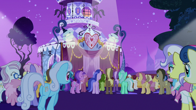 File:Ponies gather around the runway for the contest S7E9.png