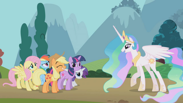 File:Princess Celestia 'as well as your friends' S01E10.png