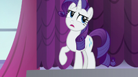 Rarity a bit annoyed S5E14