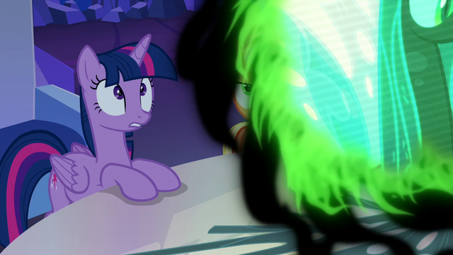 """File:Twilight Changeling """"oh, right"""" S6E25.png"""