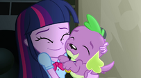 Twilight Sparkle nuzzling Spike EG2