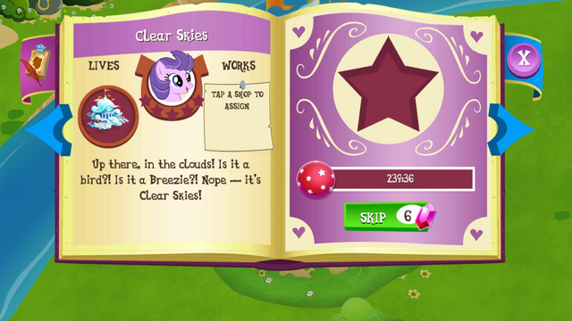 File:Clear Skies album page MLP mobile game.png