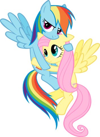 File:FANMADE Rainbow Dash hugging Fluttershy.png