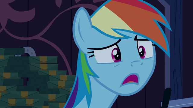 "File:Rainbow Dash ""you're... not sick?"" S6E15.png"
