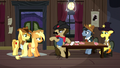 Silverstar calms down Applejack and Braeburn S5E6.png