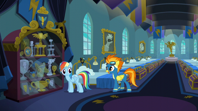 """File:Spitfire """"with the Wonderbolts motto"""" S6E7.png"""