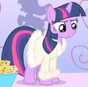 Twilight Sparkle spa robe ID S1E20