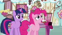 Pinkie Pie 'maybe it'll jog her memory somehow' S3E07