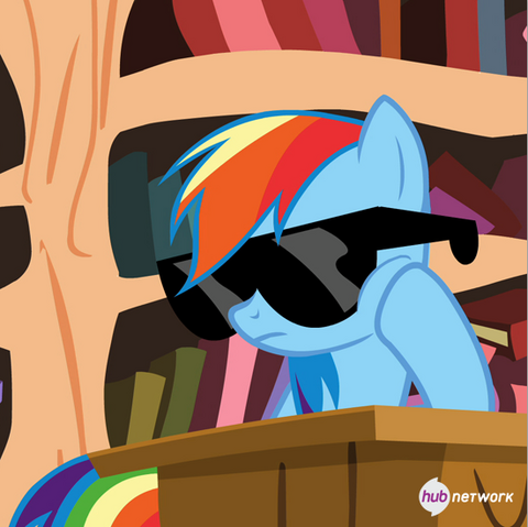 File:Rainbow with sunglasses (Hub promotional teaser) S4E21.png