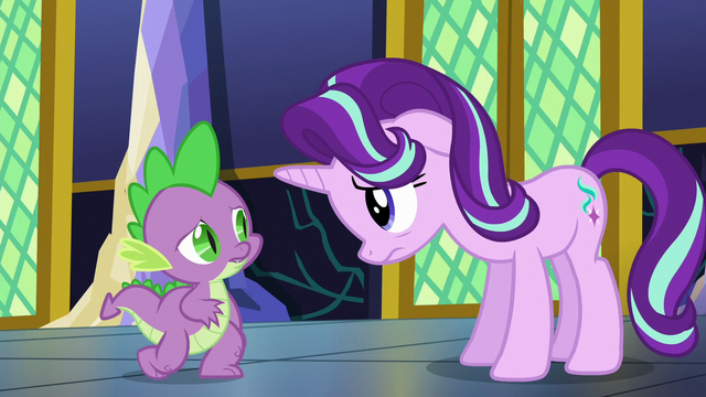 File:Spike encourages Starlight to talk to Twilight S6E1.png