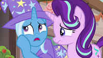 Trixie lightly teasing Starlight Glimmer S6E25