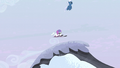Night Glider drops Double Diamond onto a snowy hill S5E2.png