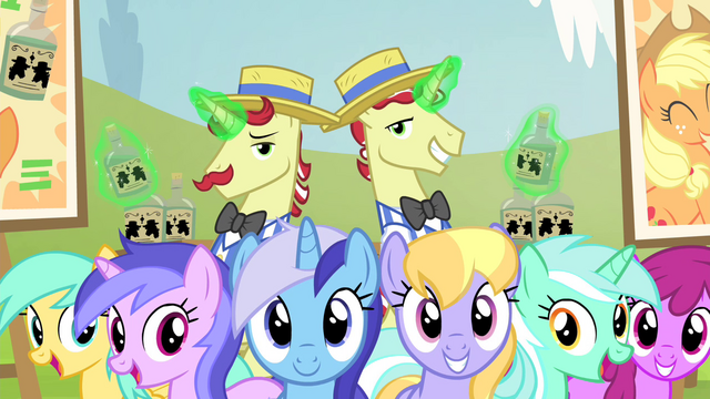 File:Ponies watching performance S4E20.png