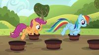 Rainbow and Scootaloo barrel weave S5E17