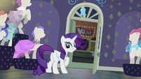Rarity happy with the jingle bell S6E9