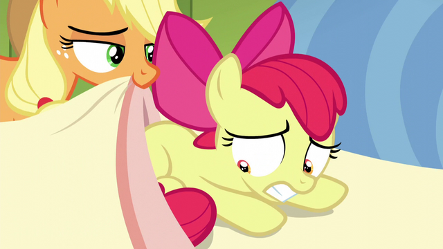 File:Apple Bloom worried while AJ puts a blanket over her S5E04.png