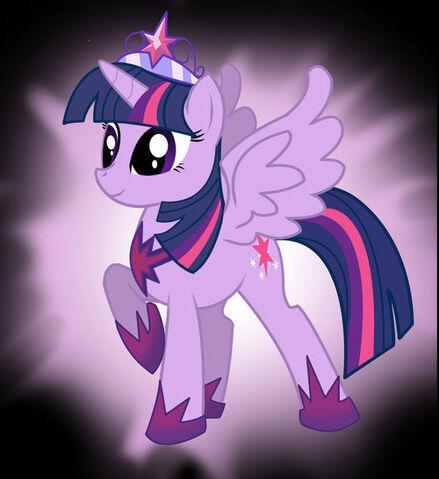 File:FANMADE Alicorn Twilight with sunburst background.jpg